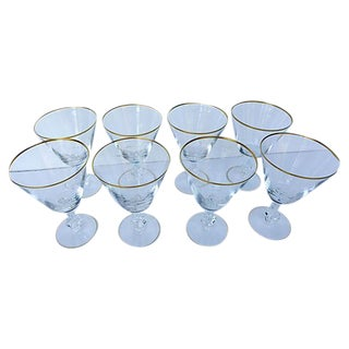 Fostoria Mid-Century Crystal Water Glasses - S/8 For Sale