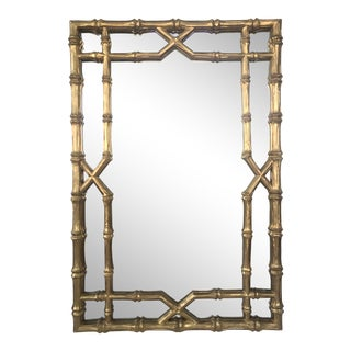 Gilt Faux Bamboo Mirror For Sale