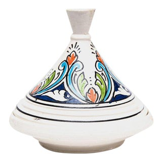Small Handpainted Moroccan Serving Tajine For Sale