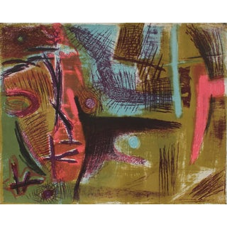 Jerry Opper Modernist Abstract Lithograph, Circa 1950s For Sale