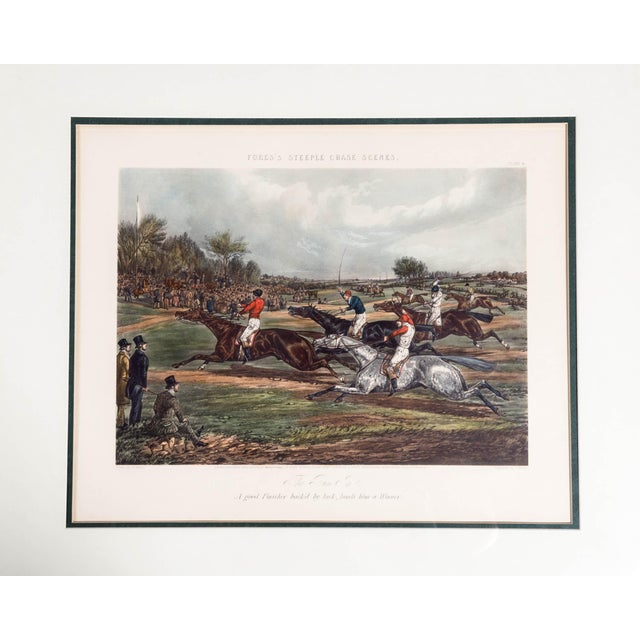 Antique Hand Colored Forest's Steeple Chase Scenes Lithographs - Set of 4 For Sale - Image 9 of 13