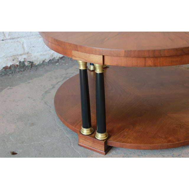 Lovely Baker Furniture Round Neoclassical Coffee Table | DECASO