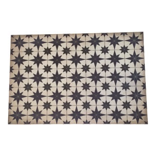 Vintage Style Vinyl Floorcloth For Sale
