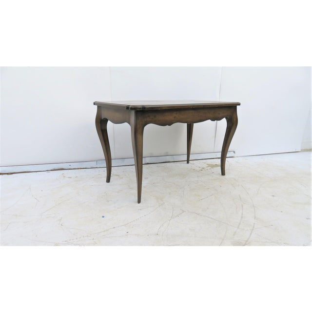 French Style Walnut Coffee Table For Sale - Image 4 of 4