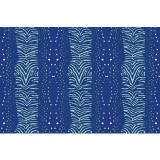 Zebra Garden Party Linen Cotton Fabric, 6 Yards For Sale