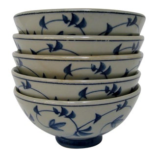 Stoneware Rice Bowls - Set of 5