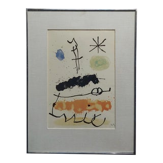 Joan Miro -Abstract With Star - 43/100 Limited Edition Lithograph For Sale