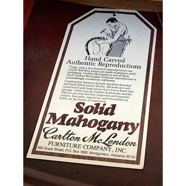 1943 Kimball Harp Table Solid Mahogany For Sale - Image 9 of 11