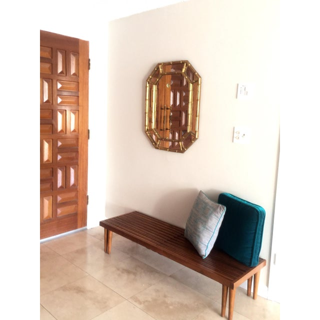 Vintage Gold Faux Bamboo Mirror - Image 4 of 4