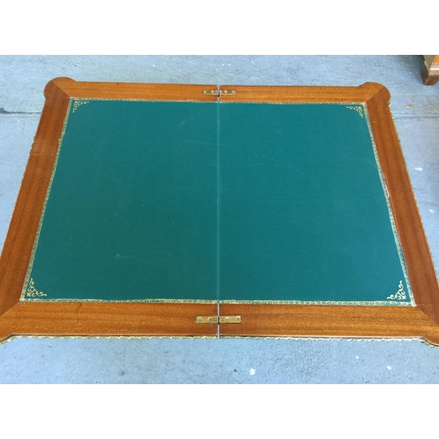 Louis XV Style Flip Top Game Table For Sale - Image 9 of 11