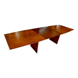 1971 Mid-Century Modern Edward Wormley for Dunbar Dining Table With Three Leaves For Sale