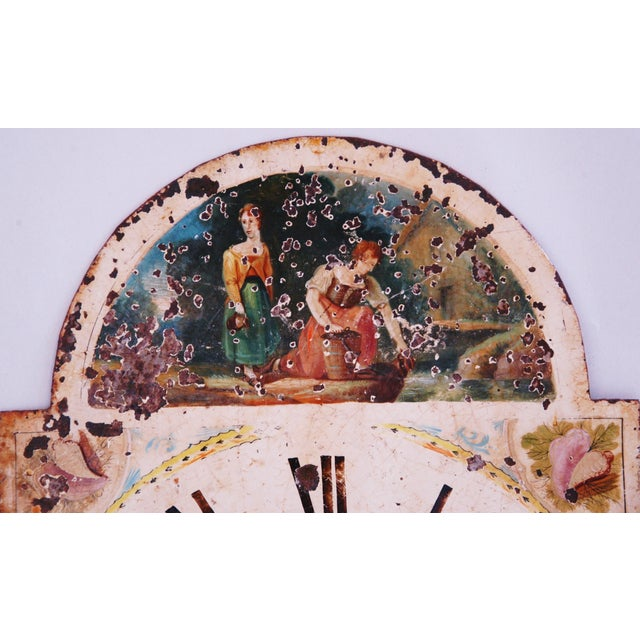 Antique Hand-Painted English Clock Face - Image 3 of 8