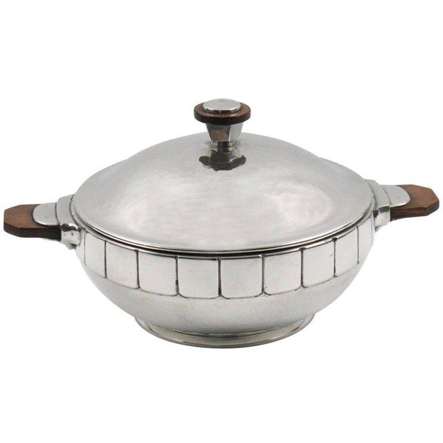 Metal Modernist Polished Pewter Tureen, Covered Dish Centerpiece by h.j. Geneve For Sale - Image 7 of 7