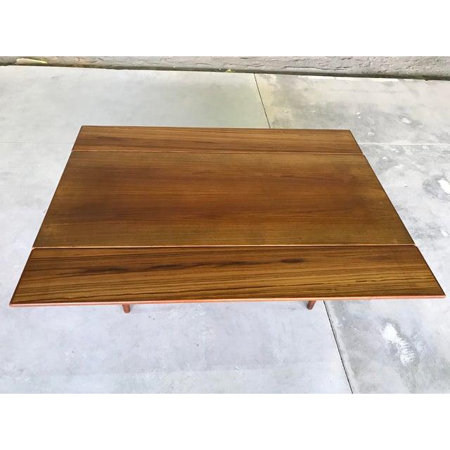 1960s Mid 20th Century Danish Modern Elevator Table Scandinavian Kai Kristiansen for Vildbjerg Mobelfabrik Teak For Sale - Image 5 of 13