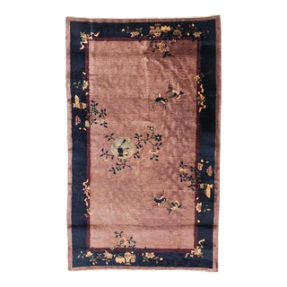 Antique Chinese Art Deco Peking Rug For Sale