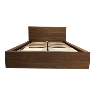 The Simple Bed in Walnut From Eq3, a Queen For Sale