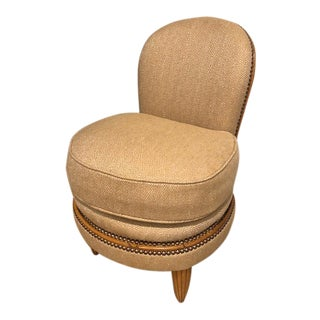 20th Century Art Deco Slipper Chair For Sale