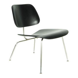 Eames Evans Ebony Plywood LCM Side Chair For Sale