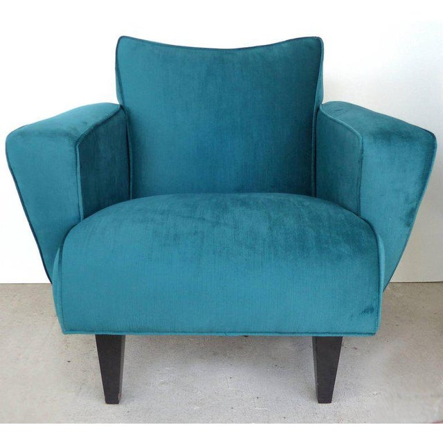 2010s Thayer Coggin Club Chairs in Velvet - A Pair For Sale - Image 5 of 10