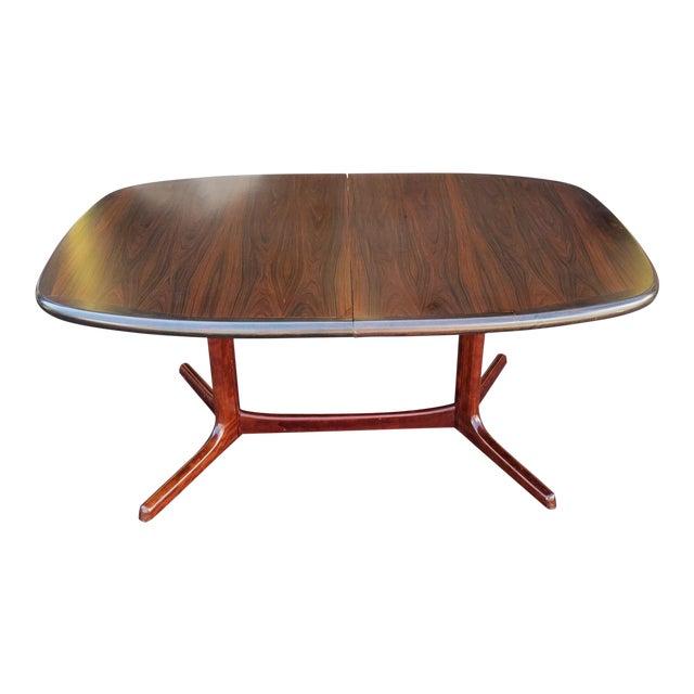 Vintage S Rosewood Dyrlund Danish Modern Trestle Dining Table W - Danish modern kitchen table