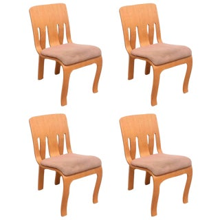 Thonet Bent Plywood Chairs - Set of 4 For Sale