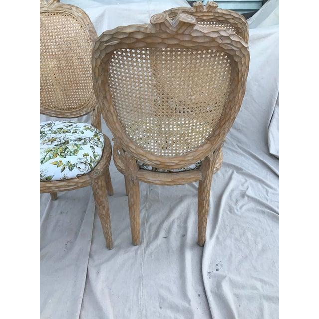 Vintage Natural Faux Bois Chairs Set, Faux Bois Furniture