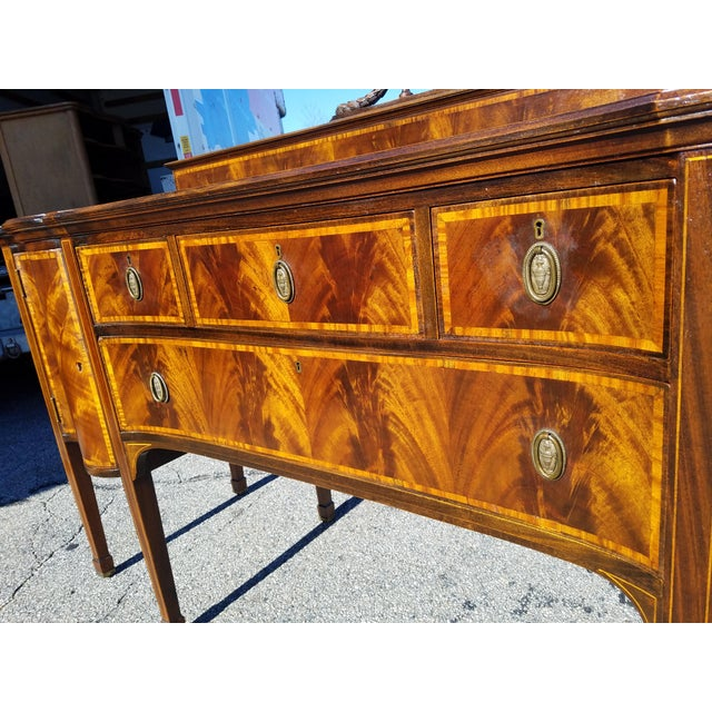 Inlaid Georgian Sideboard For Sale - Image 4 of 12