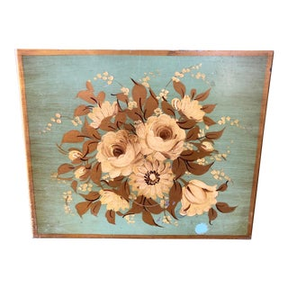 Vintage Floral Tole Painted Box For Sale