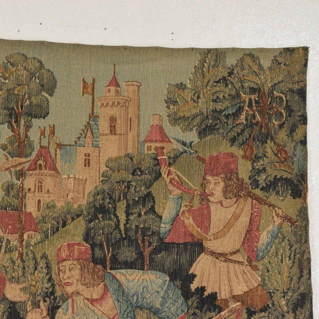 Italian Large Italian Wall Tapestry by Paris Panneaux Gobelins For Sale - Image 3 of 12