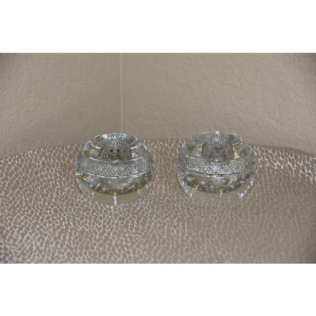 Glass Mid-Century Crystal Match Holder With Striker Marked Webb For Sale - Image 7 of 12