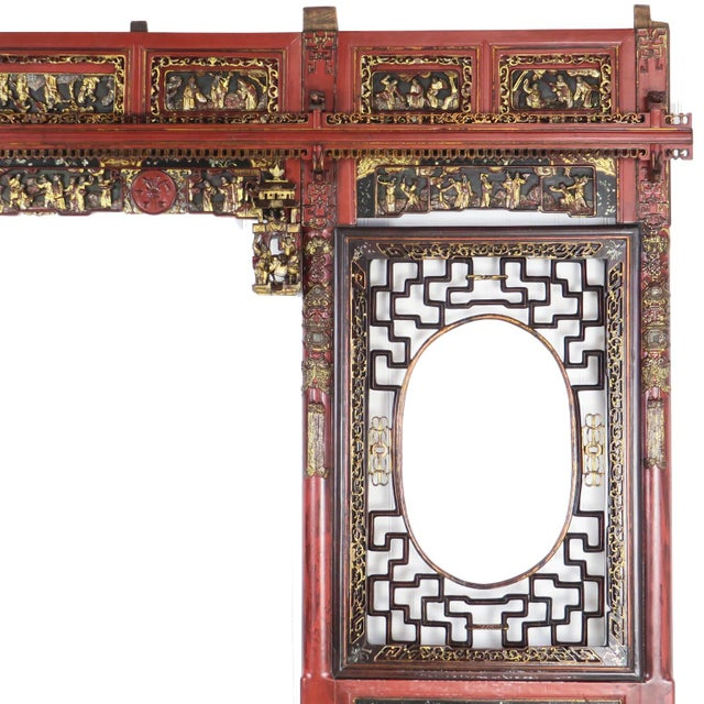 Chinese Opium Wedding Bed Intricately Carved Panel For Sale - Image 4 of 13