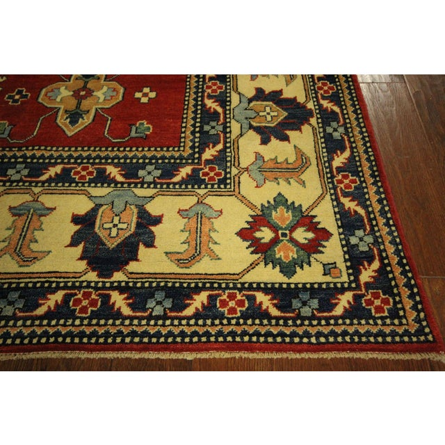 Traditional Super Kazak Rug Red- 8' x 11' - Image 7 of 11