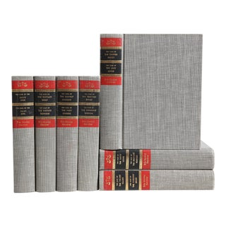 Midcentury Mystery - Grey Decorative Books, Set of 7