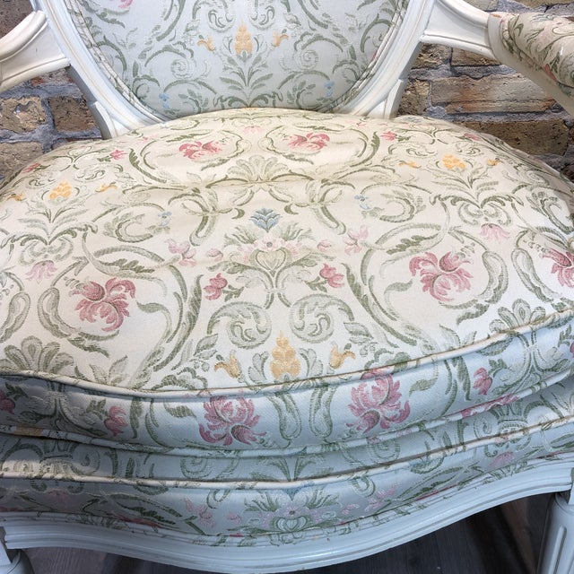 1930s Vintage French Style Upholstered Chairs- a Pair For Sale - Image 10 of 13