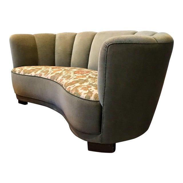 1940's Vintage Slagelse Danish Art Deco Sofa For Sale