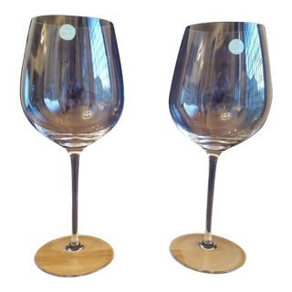 Tiffany & Co. Crystal Red Wine Glasses - A Pair