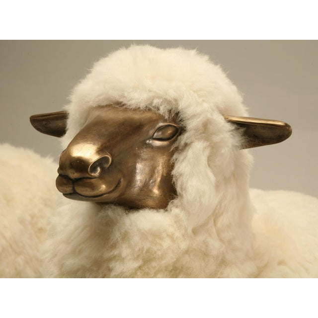 Old Plank Solid Bronze Sheep For Sale - Image 5 of 9