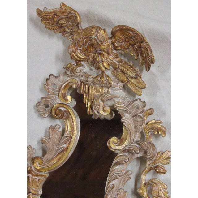 Glass 20th Century Rococo Gold Sconces- a Pair For Sale - Image 7 of 12