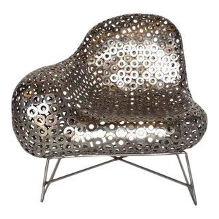 Free-Form Metal Lounge Modern Lounge Chair For Sale