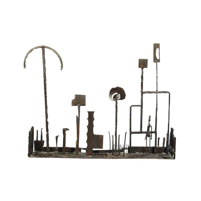 1960's Brutalist Welded Steel Sculpture For Sale - Image 9 of 9