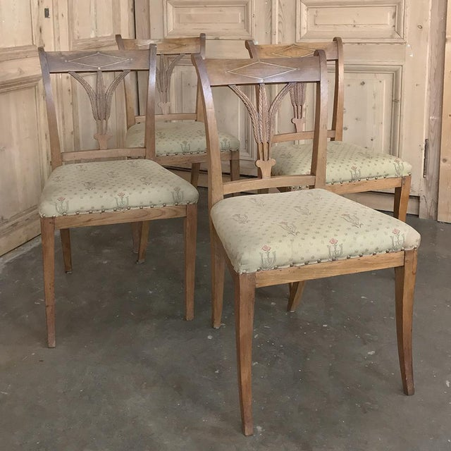 Set of Four 19th Century Swedish Directoire Style Chairs For Sale - Image 13 of 13