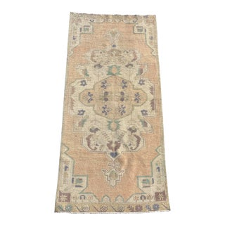 "Vintage Turkish Oushak Runner-3'6""x 8'3"" For Sale"