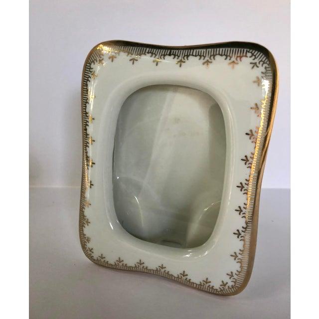 Ceramic Vintage Japanese Gilt Porcelain Picture Frame For Sale - Image 7 of 7
