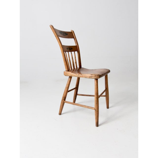 Wood Antique Primitive Chair For Sale - Image 7 of 10