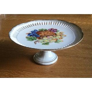 Vintage Pedestal Plate Fruit Design Preview