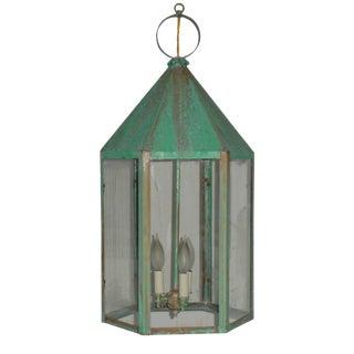 Large Hexagon Copper Lantern For Sale