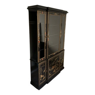 Vintage Mid-Century Asian Display Cabinet For Sale