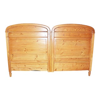 19th Century Danish Country Style King Headboard For Sale