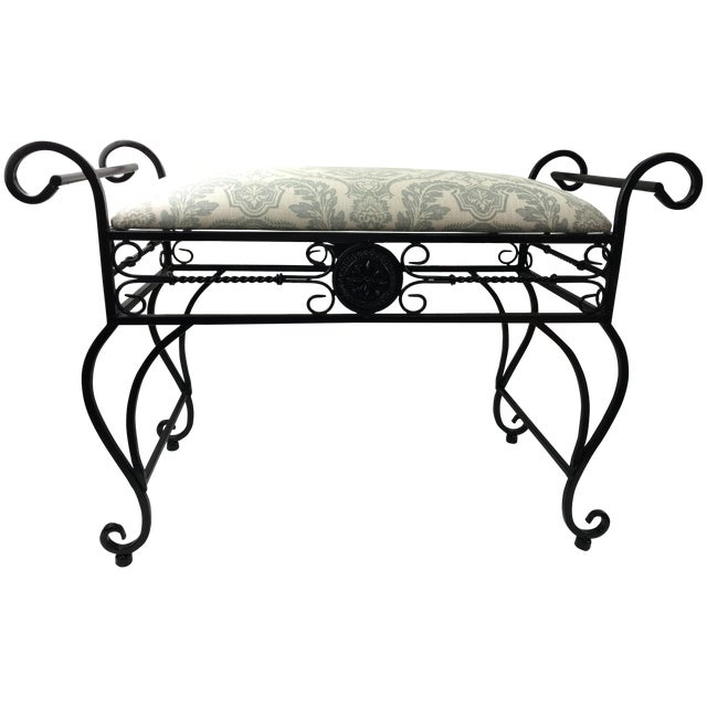 Wrought Iron Vanity Bench For Sale
