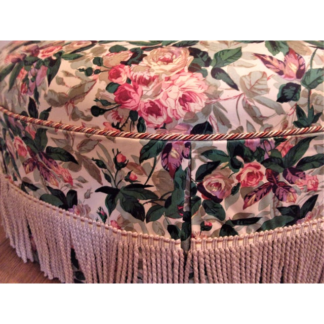 1970s Custom Upholstered Skirted Coffee Ottoman For Sale In Pittsburgh - Image 6 of 8